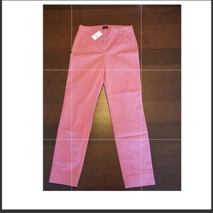 NWT J Crew flat front pants. Size 00. Dusty pink